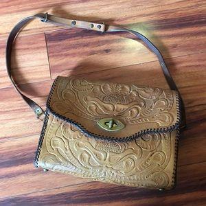 "Tooled handcrafted handbag H9XL11"""